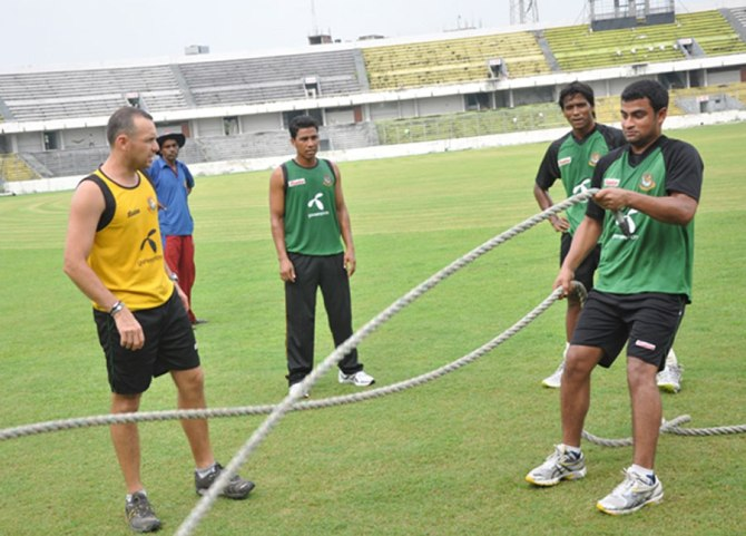 Luden used to be Bangladesh's fitness coach under the tenure of Shane Jurgensen