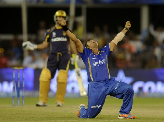 Tambe recorded his maiden IPL hat-trick