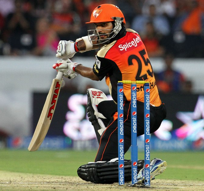 Dhawan struck seven boundaries during his wonderful innings of 50