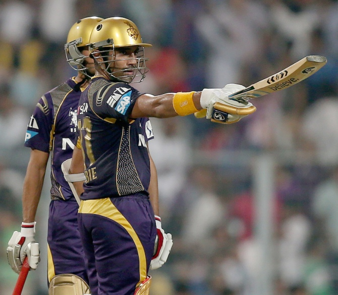 Uthappa smashed 10 boundaries during his knock of 67