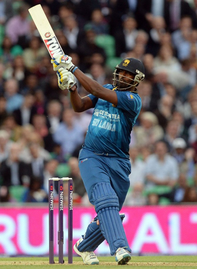 Perera walloped seven boundaries and two sixes during his entertaining knock of 49