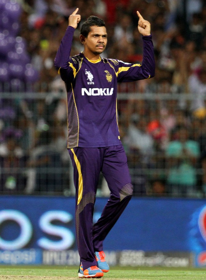 Narine dismissed Takawale, Kohli, Singh and de Villiers