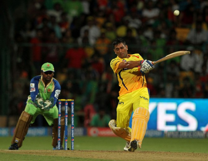 Dhoni was named Man of the Match for his quickfire knock of 49