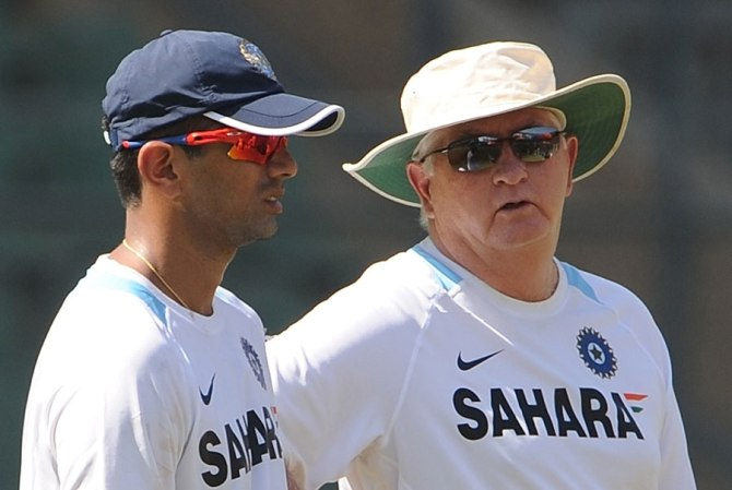 """""""It was the coach (Duncan Fletcher) who approached us on behalf of the team and said it would be good to have Rahul with his vast experience spend some time with the boys ahead of the series"""""""