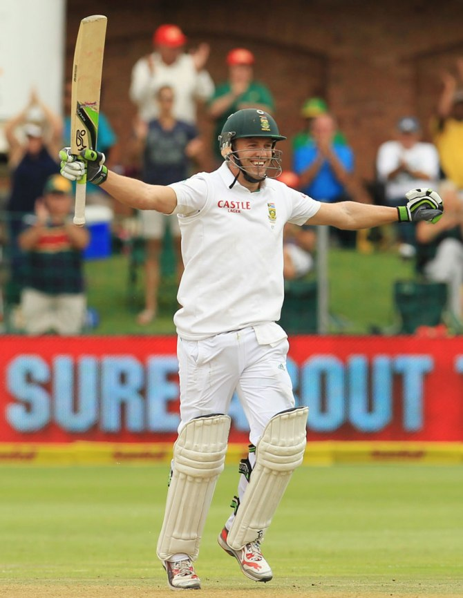 De Villiers received the cricketer of the year, Test cricketer of the year, players' player and fans' player of the year awards