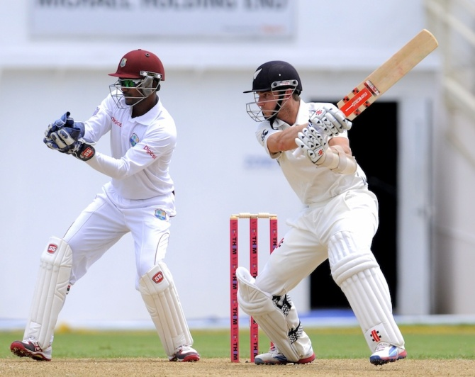 Williamson scored his first Test century against the West Indies