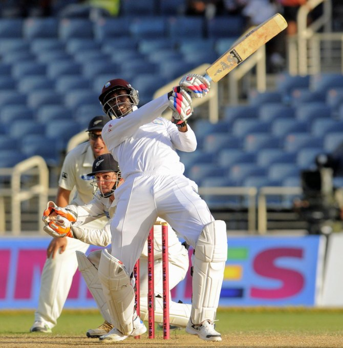 Shillingford smashed the second-fastest half-century in Test history