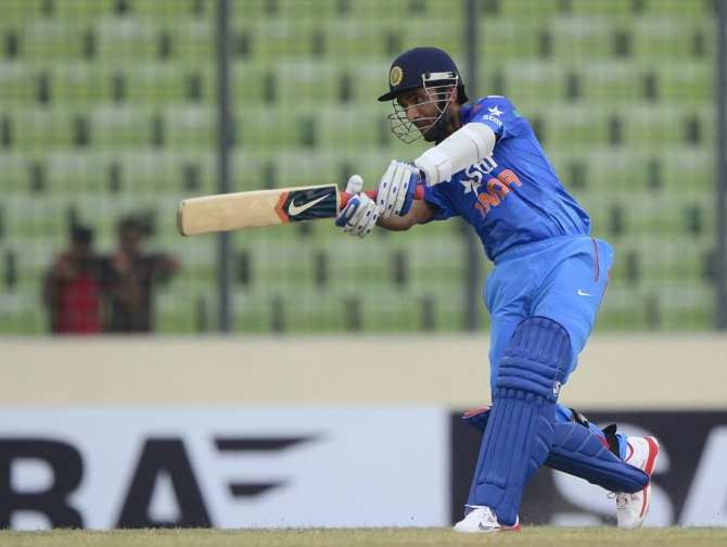 Rahane was named Man of the Match for his brilliant knock of 64
