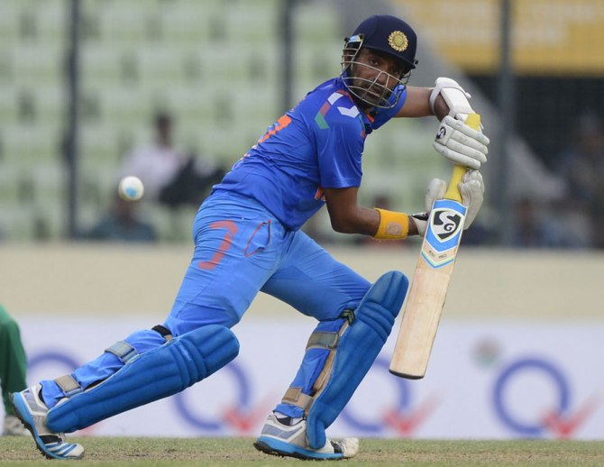 Uthappa struck three boundaries and three sixes during his innings of 50