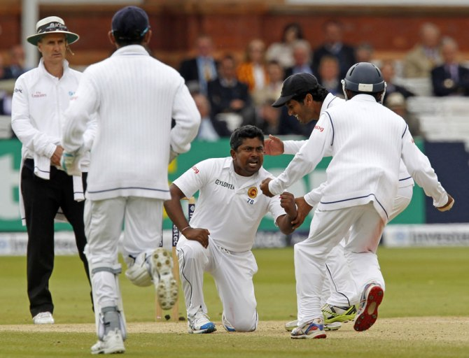 Herath dismissed Root, Ali, Jordan and Broad