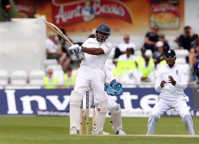 Sangakkara struck 13 boundaries during his crucial knock of 79