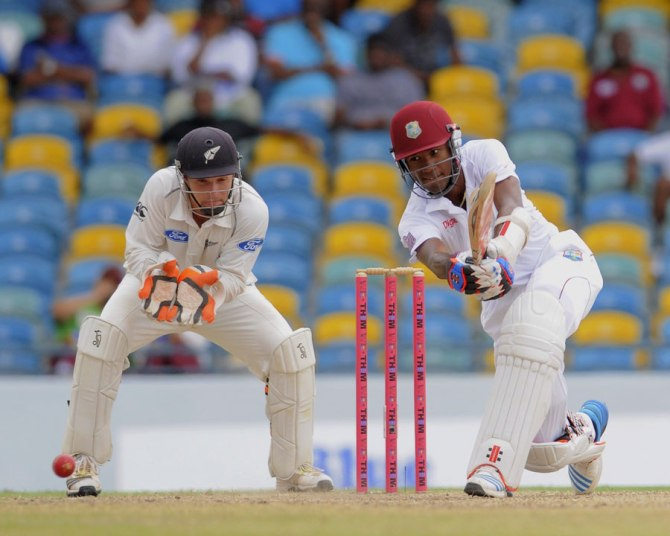 Brathwaite struck 10 boundaries during his brilliant knock of 68