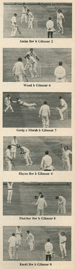 Gilmour's figures of 6 for 14 against England will forever be remembered