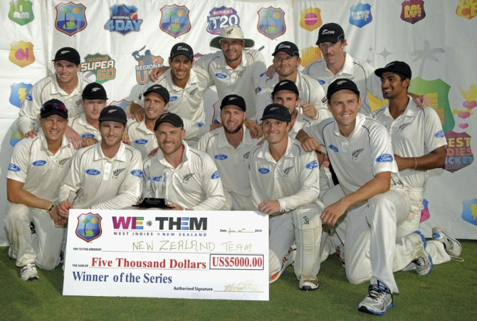 This is the second time New Zealand have beaten the West Indies in the space of six months