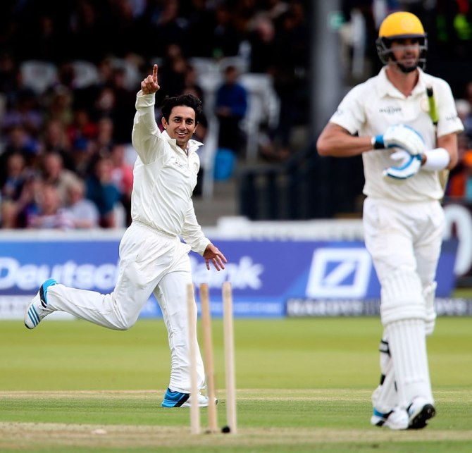 Ajmal dismissed Gilchrist, Iqbal, Pietersen and Afridi in quick succession