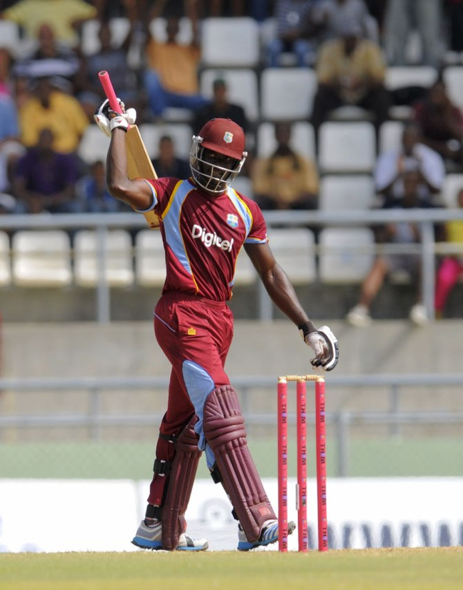 Fletcher hammered three boundaries and three sixes during his knock of 62