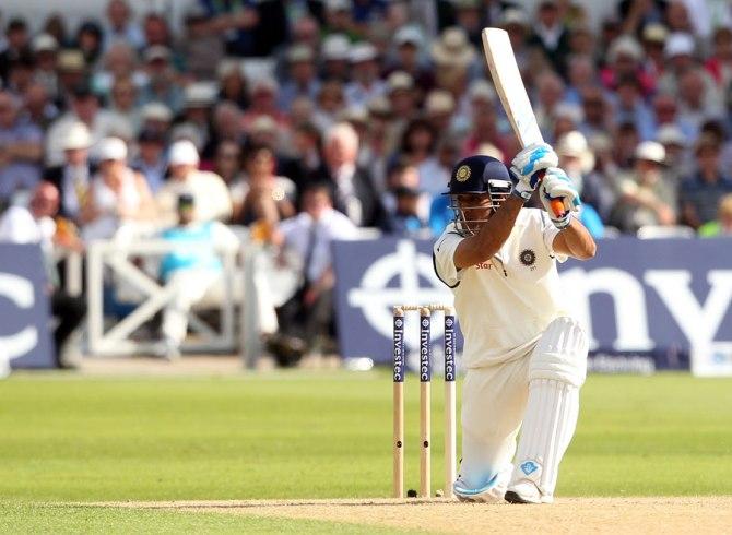 Dhoni struck five boundaries during his unbeaten knock of 50