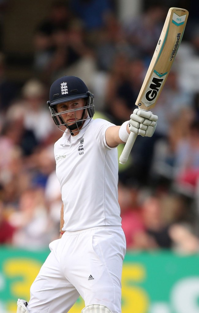 Root finished on 78 not out at the end of day three