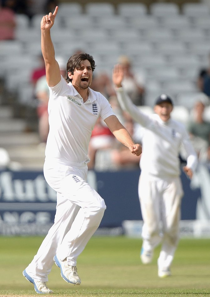 Cook is over the moon after picking up his first Test wicket