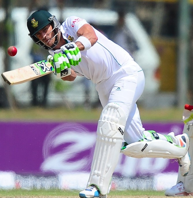 Du Plessis hit five boundaries and a six during his knock of 80