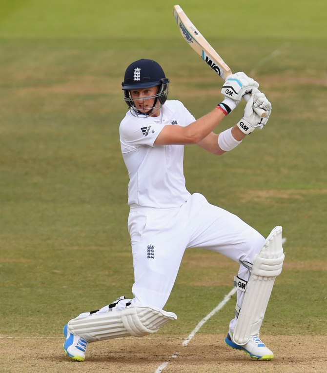 Root hit six boundaries during his gutsy knock of 66