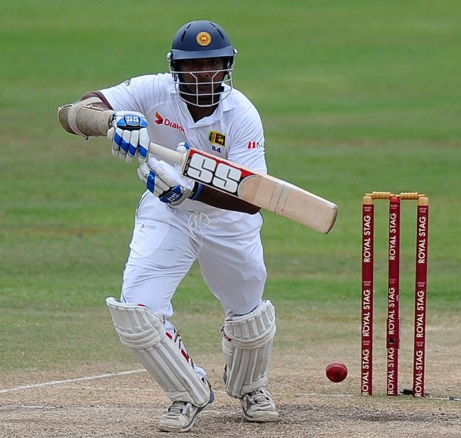 Sangakkara struck eight boundaries during his knock of 72