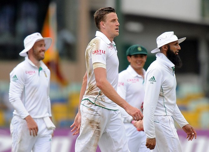 Morkel dismissed Silva, Sangakkara, Vithanage and Herath