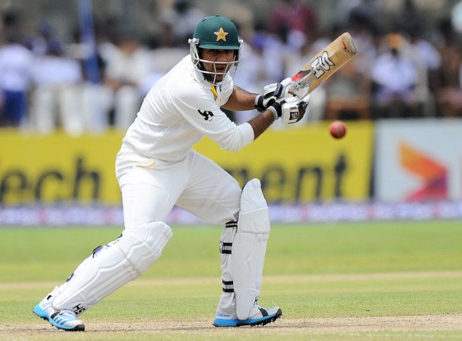 Ahmed scored his second Test half-century