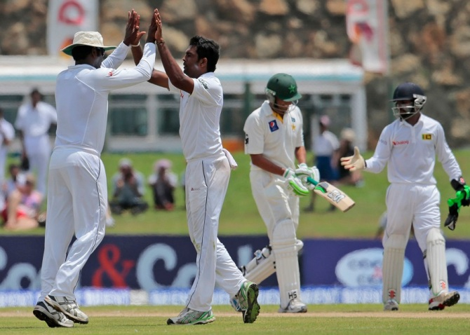 Perera ripped through Pakistan's lower order to register his third five-wicket haul