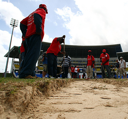 England's last Test at the Sir Vivian Richard's Stadium was abandoned after only 10 balls