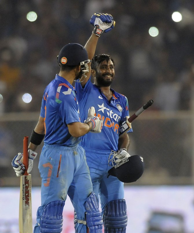 Rayudu is elated after scoring his maiden ODI century