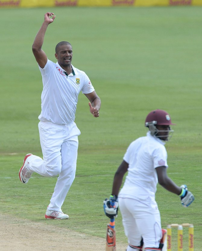 Despite his muscle tightness, Philander picked up five wickets on day three