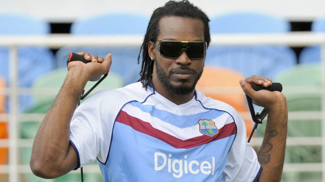Gayle is not in the list of centrally contracted players for the 2014-15 season