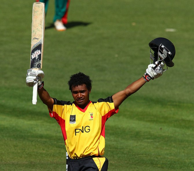 Siaka scored his maiden ODI century during Papua New Guinea's debut ODI series against Hong Kong in November