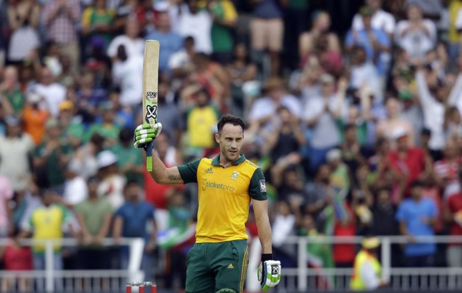 Du Plessis scored the second-fastest century in Twenty20 International history