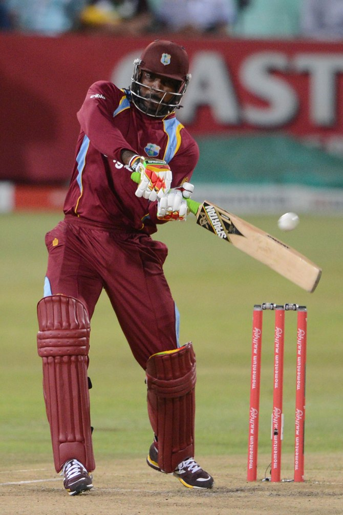 Gayle was the West Indies' top-scorer with 41 runs