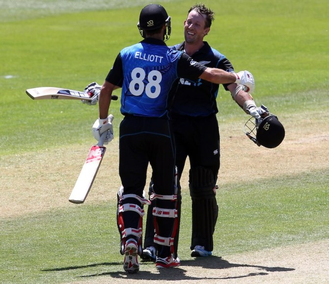 Ronchi and Elliott both made centuries during their record-breaking 267-run partnership
