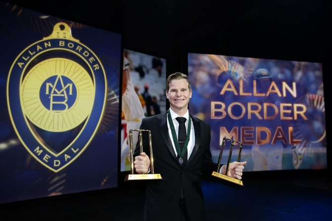 Smith won the Allan Border Medal, Test Player of the Year award and ODI Player of the Year award