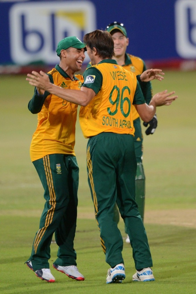 Wiese finished with a career-best 5-23 off four overs