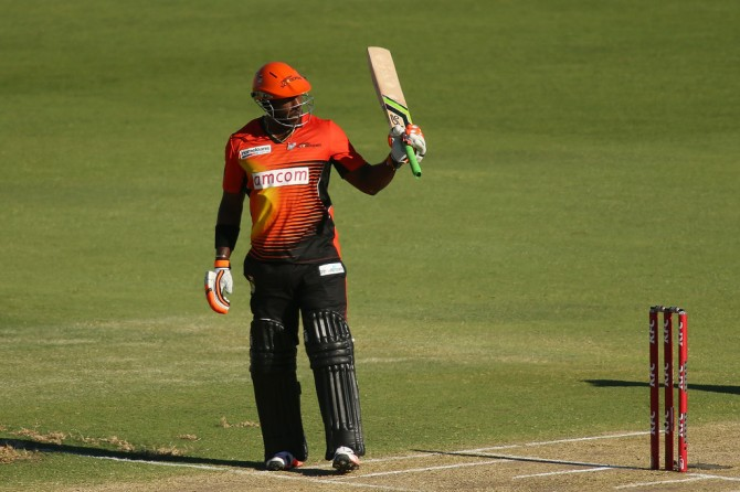 Carberry smashed six boundaries and a six during his knock of 50
