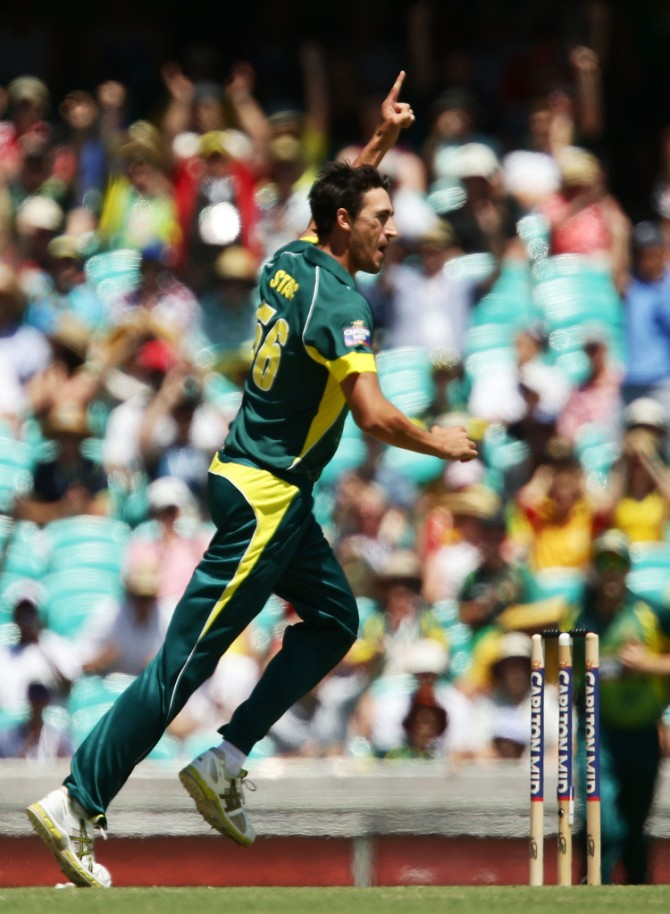Starc finished with figures of 4-42 off 8.5 overs
