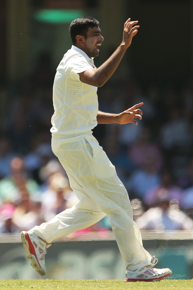 Ashwin took four wickets after making a half-century