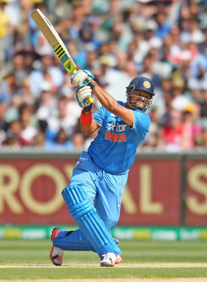 Raina played some superb shots during his innings of 51