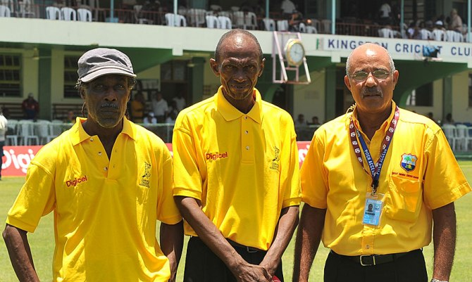 """Austin (centre) was known as the """"right-handed Sobers"""" before his career fell apart"""