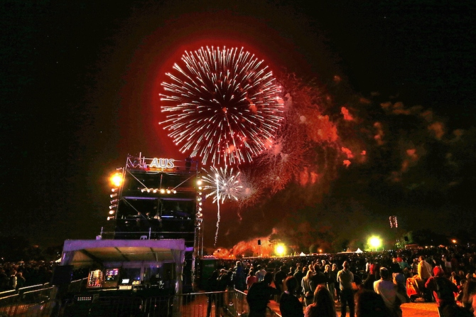 Fans in Christchurch were treated to the largest fireworks display in the city's history