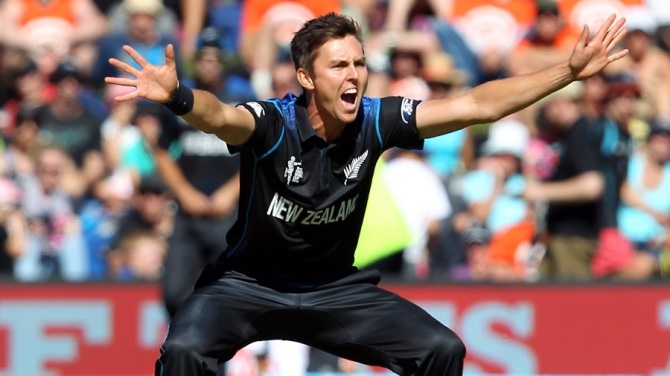 Boult was named Man of the Match for his bowling figures of 2-21 off six overs