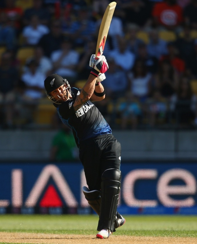 McCullum only needed 18 balls to bring up his half-century