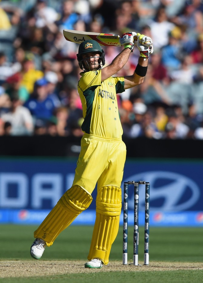 Maxwell smashed 11 boundaries during his knock of 66