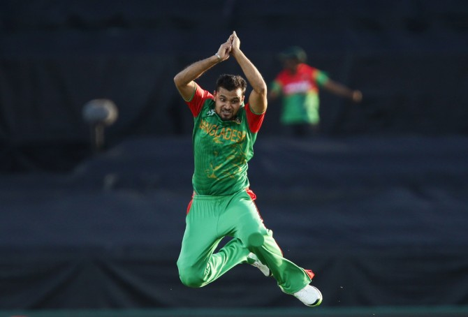 Mortaza finished with figures of 3-20 off nine overs