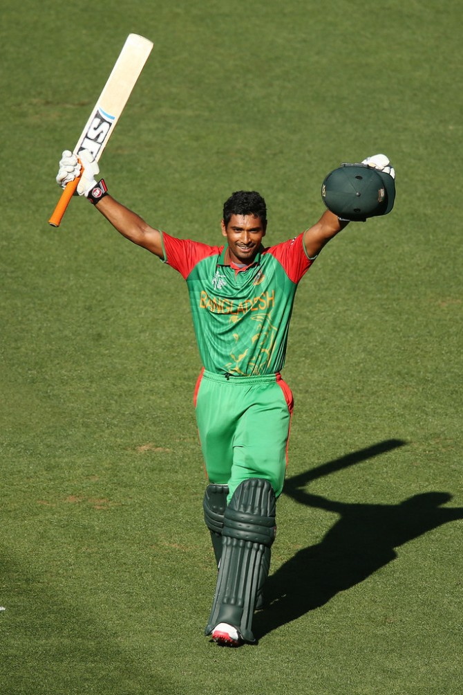 Mahmudullah is ecstatic after scoring his maiden ODI century
